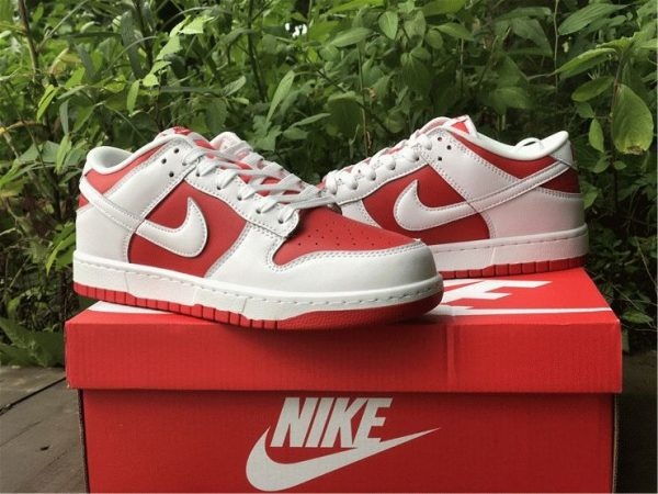 Nike Dunk Low White University Red overall