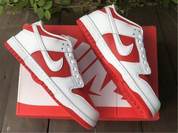 Nike Dunk Low White University Red panling