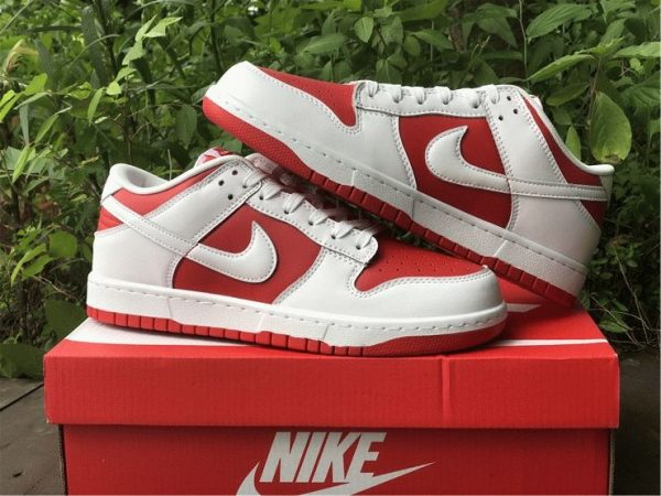 Nike Dunk Low White University Red shoes 2021