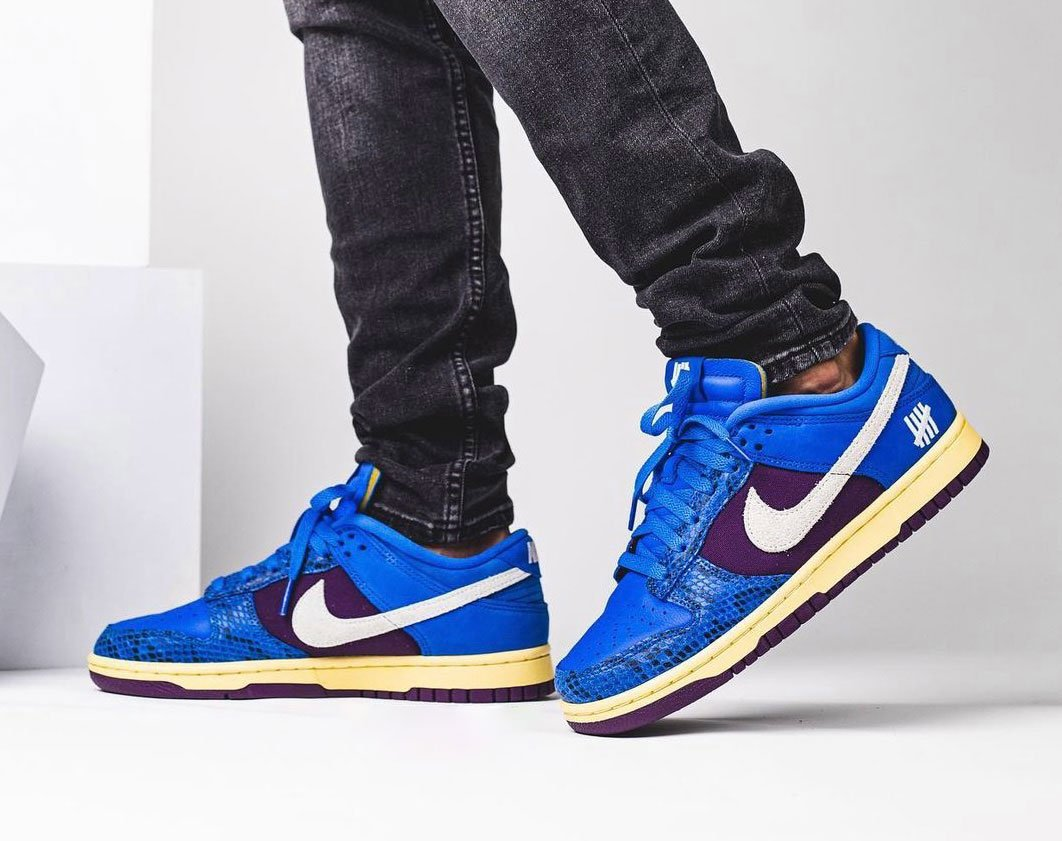 UNDEFEATED Nike Dunk Low Dunk vs AF-1 on feet