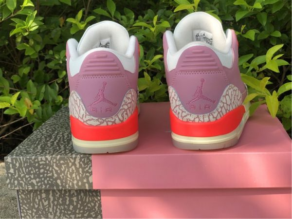 Wmns Air Jordan 3 Rust Pink heel