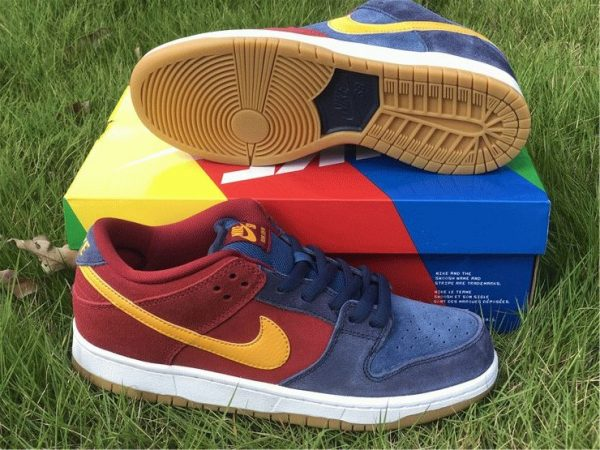 new Nike SB Dunk Low Catalonia Maroon Navy Gold