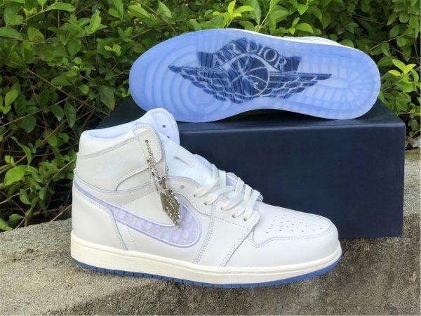 where to buy Dior x Air Jordan 1s White Grey