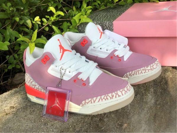 women Wmns Air Jordan 3 Rust Pink