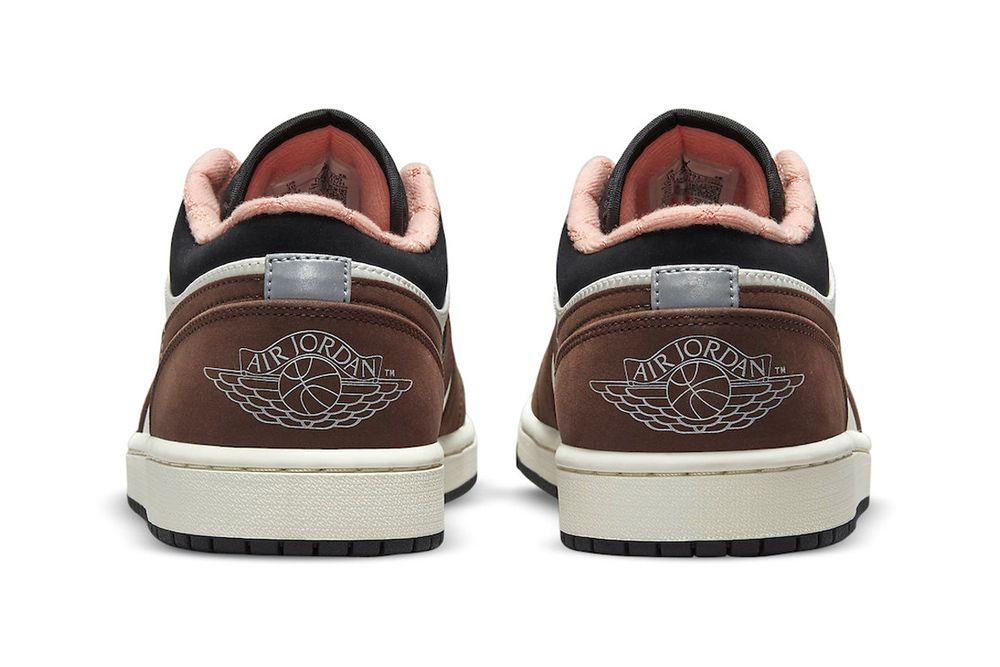 Air Jordan 1 Low Mocha Brown heel