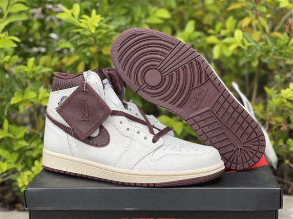 A Ma Maniere x Air Jordan 1 High OG burgundy