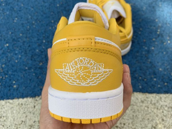 Air Jordan 1 Low Pollen Yellow back heel