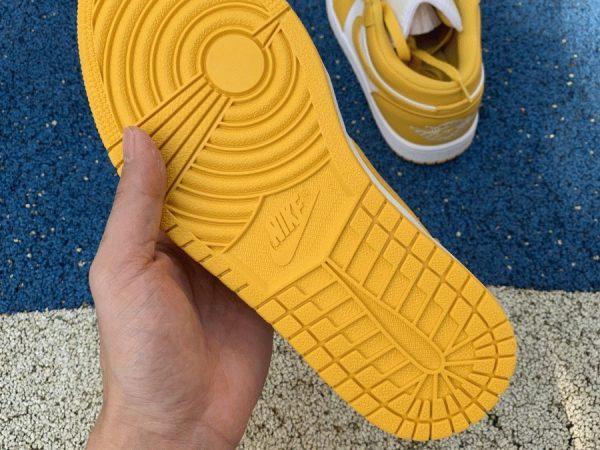 Air Jordan 1 Low Pollen Yellow underfoot