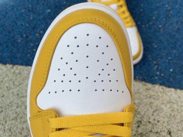 Air Jordan 1 Low Pollen Yellow vamp