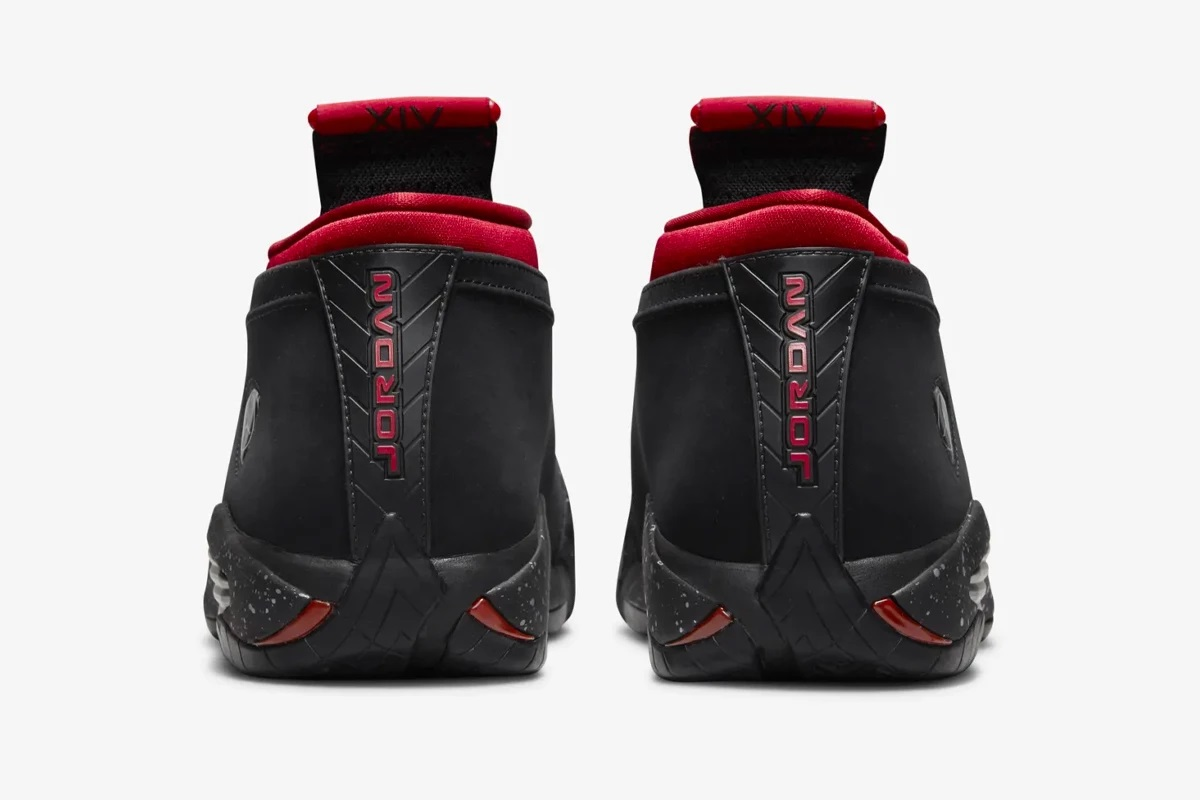 Air Jordan 14 Low Red Lipstick Bred heel release