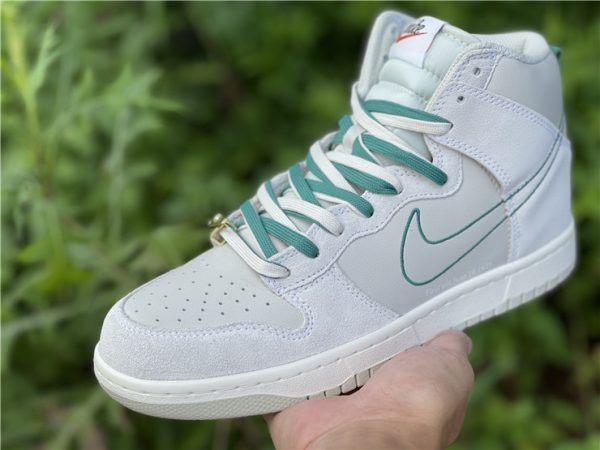 Dunk High SE First Use PackGreen Noise grey