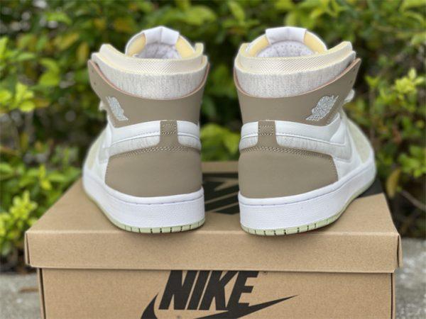 Jordan 1 High Zoom CMFT Olive Aura Khaki back heel