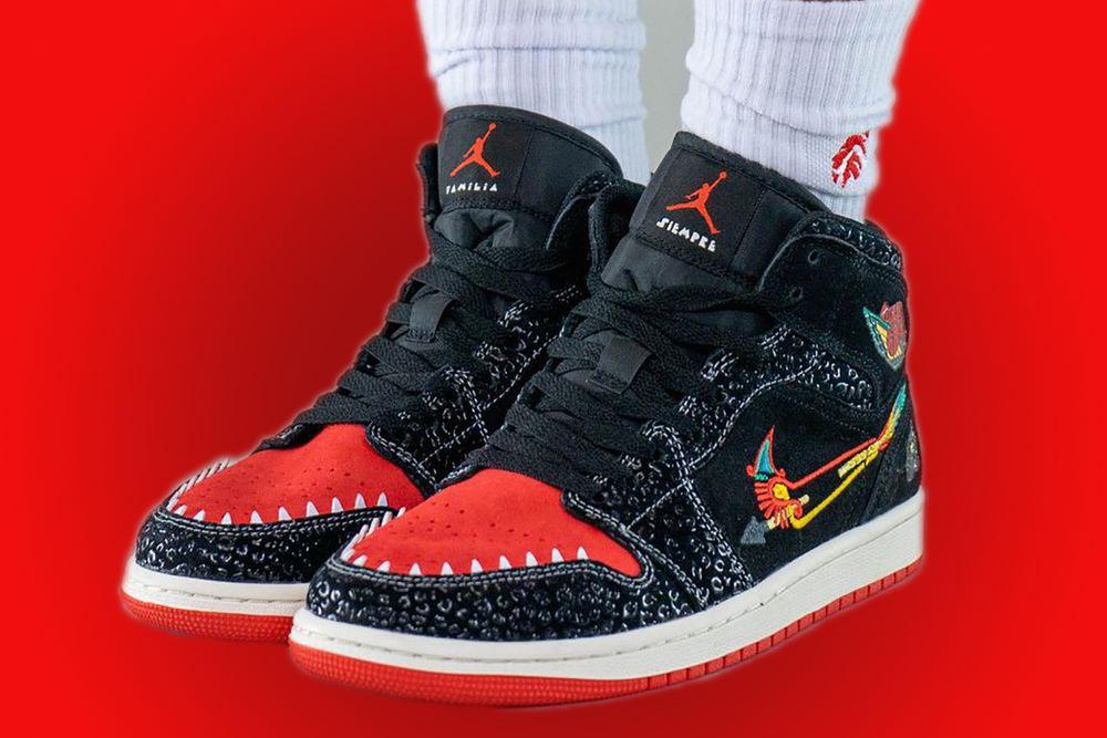 SiEMPRE Familia Air Jordan 1 Mid Día de los Muertos First Look