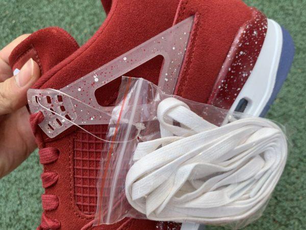 Jordan 4 Retro Oklahoma Sooners PE extra laces