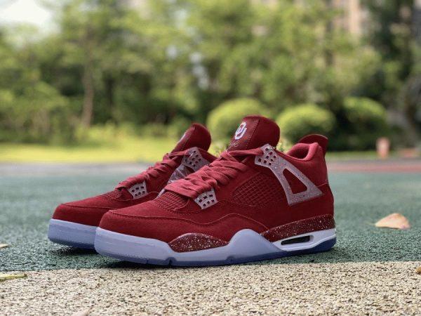 Jordan 4 Retro Oklahoma Sooners PE red
