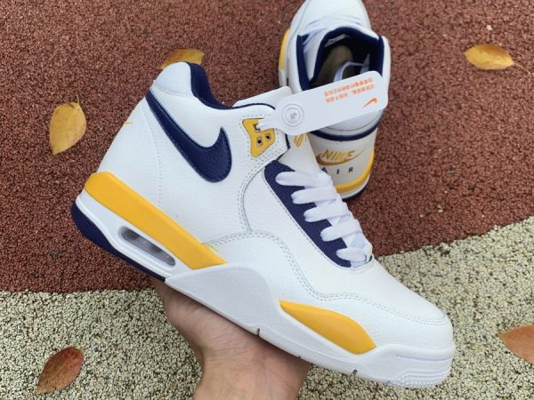 Nike Air Flight Legacy Lakers Home on hand look