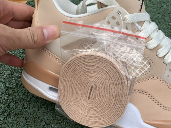 Nike Air Jordan 4 Retro Shimmer Bronze Eclipse lace