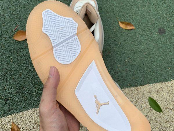 Nike Air Joradan 4 Retro Shimmer Bronze Eclipse underfoot