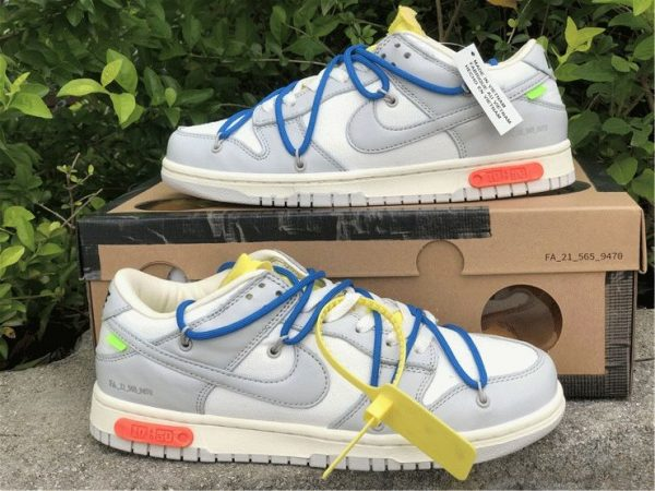 Off-White x Nike Dunk Low The 10 of 50 sko