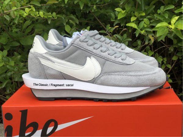 fragment x sacai x Nike LDWaffle Light Smoke Grey