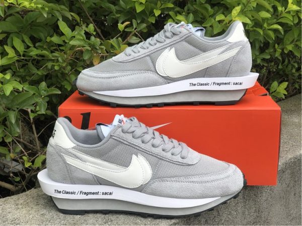 fragment x sacai x Nike LDWaffle Light Smoke Grey for sale