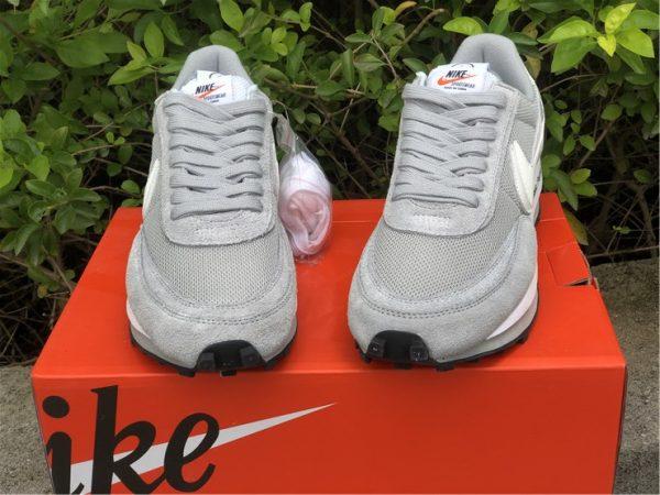 fragment x sacai x Nike LDWaffle Light Smoke Grey front