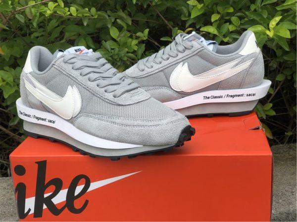 fragment x sacai x Nike LDWaffle Light Smoke Grey shoes