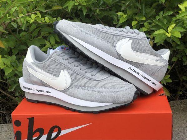 fragment x sacai x Nike LDWaffle Light Smoke Grey sneaker