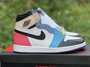 Air Jordan 1 Mid Multi Color Matching blue