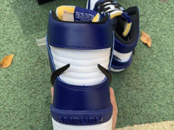 CU7544-400 Dunk High Deep Royal Blue Ambush heel