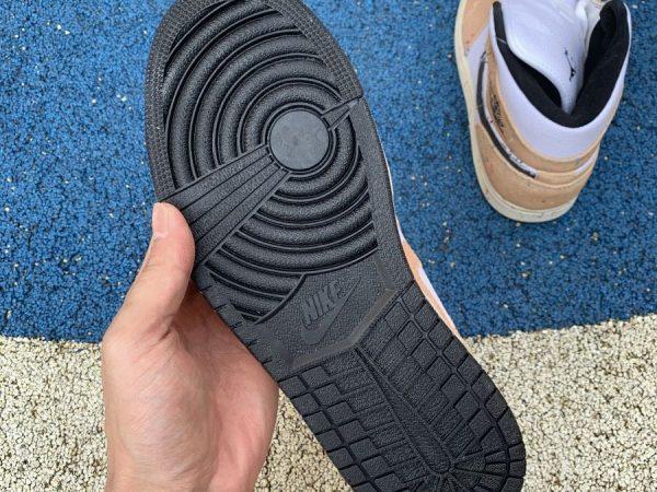 Jordan 1 Mid SE Brushstroke Paint Splatter underfoot
