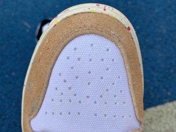 Jordan 1 Mid SE Brushstroke Paint Splatter white vamp