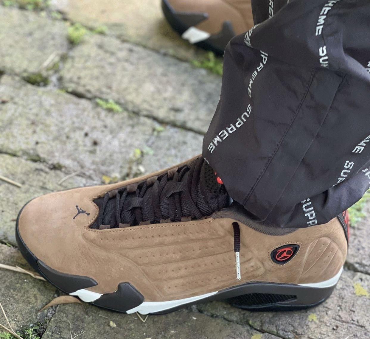 Jordan 14 Winterized on feet