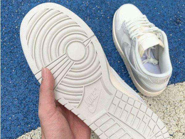 Nike Dunk Low Sail Light Bone DD1503-107 underfoot